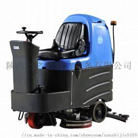 西安容恩驾驶式洗地机 商场用容恩全自动洗地机