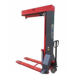 广州叉车型拉伸膜缠绕机随时移动 托盘裹膜机可充电