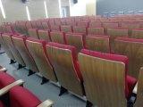 報告廳座椅-實木外殼禮堂椅-帶寫字板禮堂椅