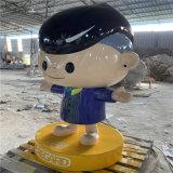 广州动漫玻璃钢卡通公仔雕塑 广场美陈
