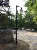 仿古新中式庭院燈 防水復古雙頭太陽能路燈