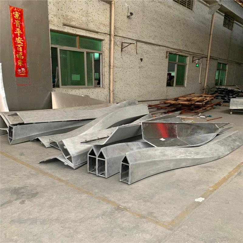 圓弧雙曲鋁單板定製廠家 扭曲弧面造型鋁單板效果圖案