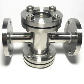供应厂家批发法兰四通式管道视镜、视盅、法兰式视镜