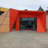 墙身门头造型铝单板 墙身凹凸锥形铝单板