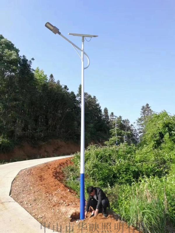 太陽能路燈6米5戶外燈8新農村高杆家用庭院燈超亮led大功率路燈杆