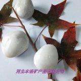 白色机制鹅卵石 河北鹅卵石厂家 雪花白铺路鹅卵石