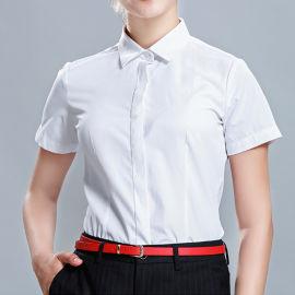 新款商务衬衫女装休闲短袖纯色薄款职业衬衣
