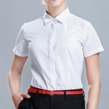 新款商務襯衫女裝休閒短袖純色薄款職業襯衣