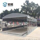 河南許昌市籃球場伸縮雨蓬移動推拉雨棚環保移動帳篷
