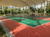 PVC篮球场造价,篮球场pvc材料每平方价钱