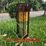 室外防水草坪燈電鍍絲印logo柱頭燈不鏽鋼草坪燈