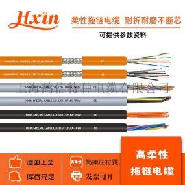 特种拖链防水耐油水PUR移动机械手弯曲数控机床电缆