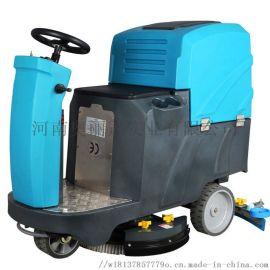 冠儒洗地机洗地车车间洗地机仓库电动驾驶式洗地机