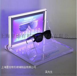 定制设计台面展示柜亚克力有机玻璃眼镜展示架相框