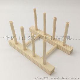 松木沥水架 多功能置物架茶叶架 木质收纳架