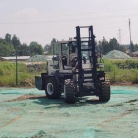 沃特四驱3吨5吨柴油一体式 液压四轮升降内燃叉车