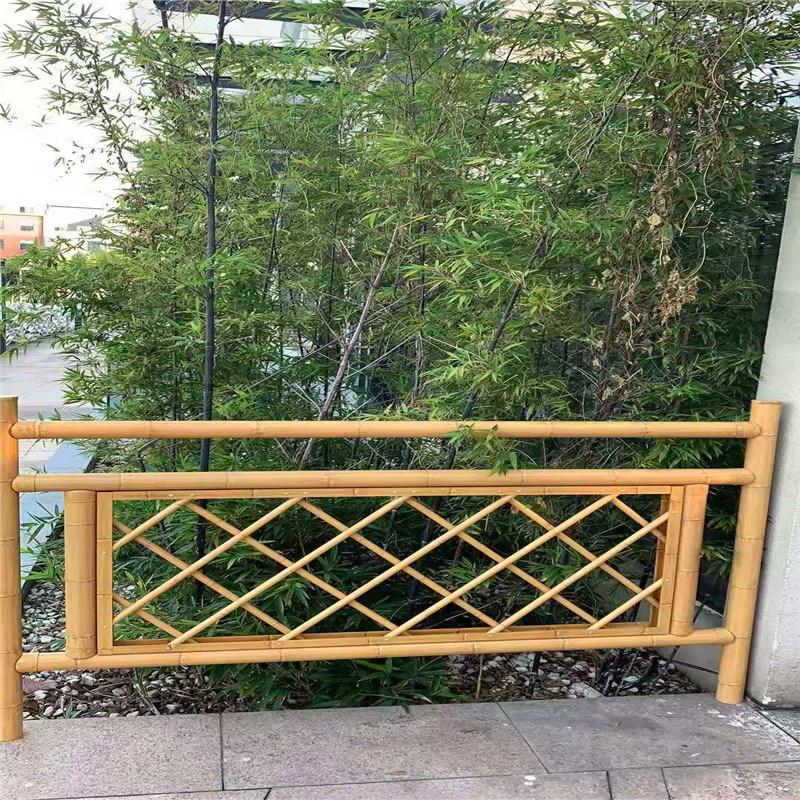 觀景區金屬竹節鋁護欄 仿木紋竹管鋁合金護欄