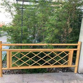 观景区金属竹节铝护栏 仿木纹竹管铝合金护栏