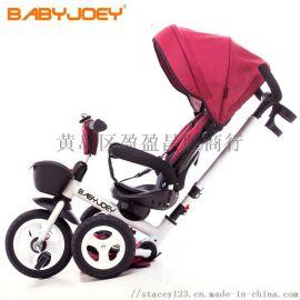 儿童三轮脚踏车折叠**1-3岁**手推自行童车