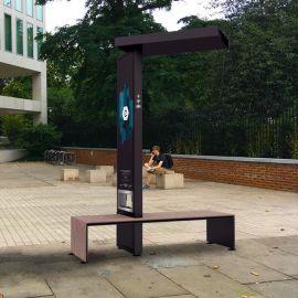 河北衡水太阳能公共充电座椅,太阳能智慧户外座椅