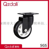 重型鍍鋅黑色PU腳輪