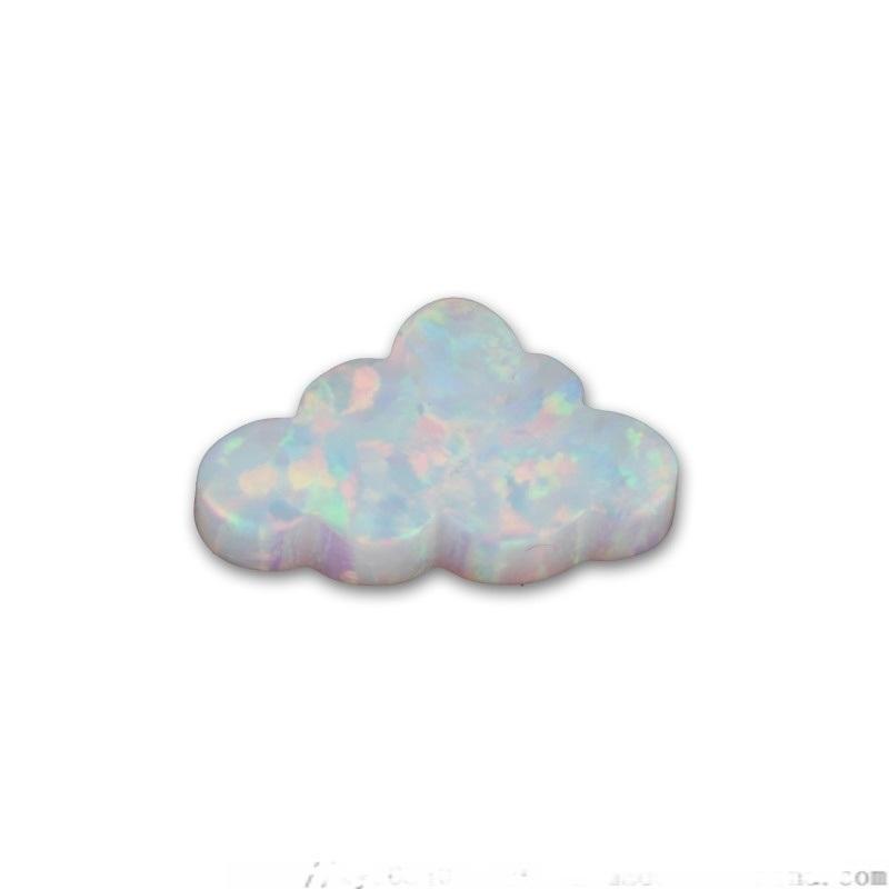 树脂人造欧泊裸石 白色云朵形合成澳宝 宝石配石