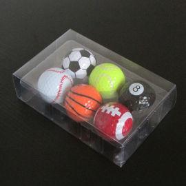 深圳现货高尔夫球透明包装盒子 PVC吸塑盒 六个装