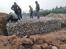雨季使用加筋石笼网如何做防护