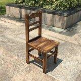碳化木火锅桌椅 农庄实木餐桌 烤鱼店大排档圆形饭桌