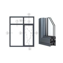 广东兴发铝材创高AL6529A|B系列内开内倒窗