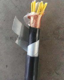 钢带铠装铜丝编织屏蔽电缆KVVP-22