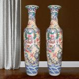 景德镇陶瓷大花瓶 客厅落地雕刻手绘瓷瓶装饰摆件