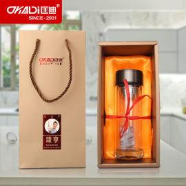 匡迪345号水晶玻璃杯 双层高硼硅玻璃茶水杯