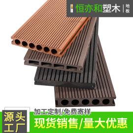 室外木塑地板厂家塑木地板架空平台地板河堤码头地板