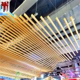 金属木纹铝圆管构造特点 仿木纹弧形铝圆管吊顶