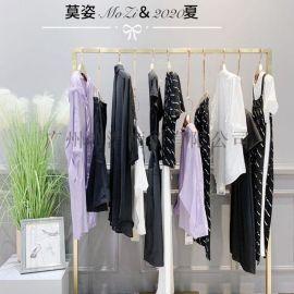 杭州品牌折扣女装莫姿时尚连衣裙一手货源