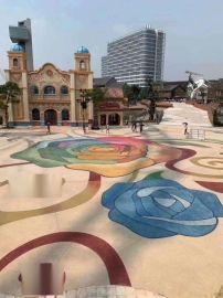 廣州彩色混凝土洗砂藝術地坪材料施工及技術指導