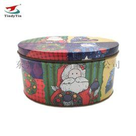 圣诞礼物盒定制 糖果饼干通用铁罐 椭圆形铁盒
