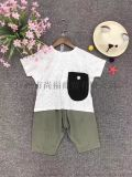 湖南童装货源供应吾名堂夏装欧版纯棉儿童T恤连衣裙