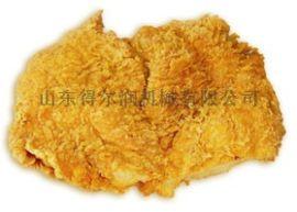 卡兹脆鸡排裹粉上面包糠机 肉类加工设备油炸生产线