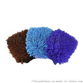厂家优惠供应洗车手套 单面双面雪尼尔 洗车手套