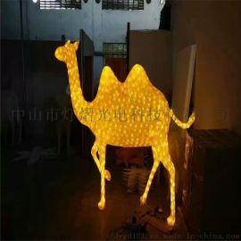 中山造型灯厂家 滴胶骆驼造型灯 LED灯光节装饰灯