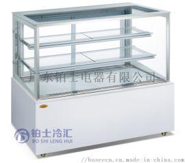 直角后开门蛋糕展示柜冷藏展示柜