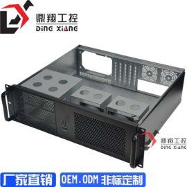 超短3U机箱工控服务器机箱监控硬盘机箱