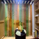 格栅背景墙铝竹管改造特点 中庭立柱铝竹包边效果