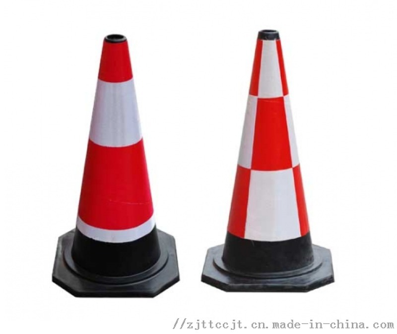 橡胶路锥70反光路障锥雪糕桶锥形桶隔离墩交通安全锥