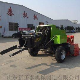农用拖拉机悬挂秸秆压块机 青储饲料方捆打捆机