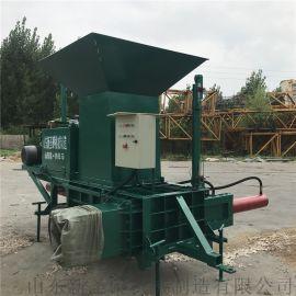 多功能干湿秸秆套袋打包机 皇竹草卧式压块机