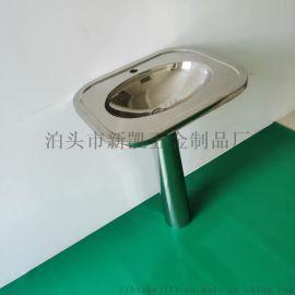 不锈钢立柱洗手盆 304带立柱洗手盆
