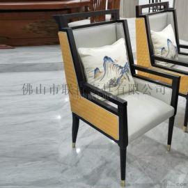 售楼处洽谈桌椅组合新中式轻奢接待桌椅美容院酒店样板房沙发家具